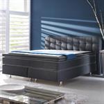 Boxpspringbett BX 480 in schwarz oder silber