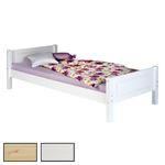 Holzbett Bett CLAUDIO in verschiedenen Größen und Farben, Kiefer massiv, mit Kopf- und Fußteil