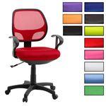 Kinderdrehstuhl COOL in 4 Farben, bequeme Polsterung, atmungsaktiver Netzbezug, 5 Doppelrollen