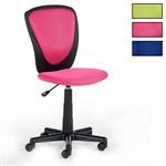 Bürostuhl Kinderschreibtischstuhl HEINO verschiedene Farben, atmungsaktiver Netzbezug, Nylonfußkreuz in schwarz, Toplift Sitzhöhenverstellung, Sicherheitsdoppelrollen