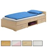 Einzelbett in verschiedenen Farben
