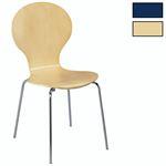 Stapelstuhl Küchenstuhl MAUI in verschiedenen Farben, verchromtes Metallgestell, lackiertes Birkenschichtholz