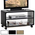 TV Rack MIAMI mit Regalboden und 4 Doppelrollen in verschiedenen Farben