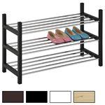 Stuhständer RESA mit 3 verchromten Böden aus Metallrohr, Holzgestell in verschiedenen Farben, stapelbar, stabil