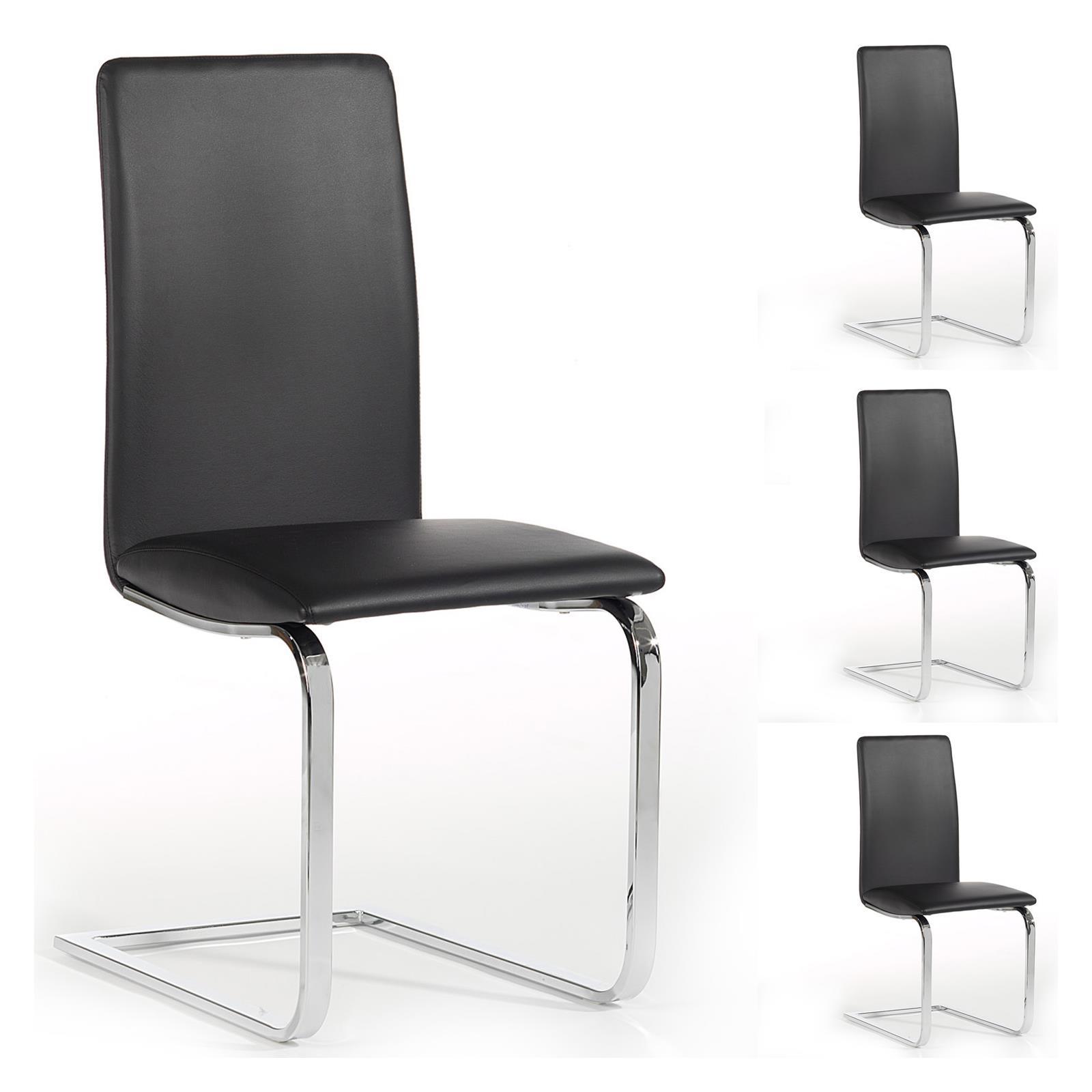 4er set schwingstuhl esszimmerstuhl freischwinger essgruppe k chenstuhl ebay. Black Bedroom Furniture Sets. Home Design Ideas