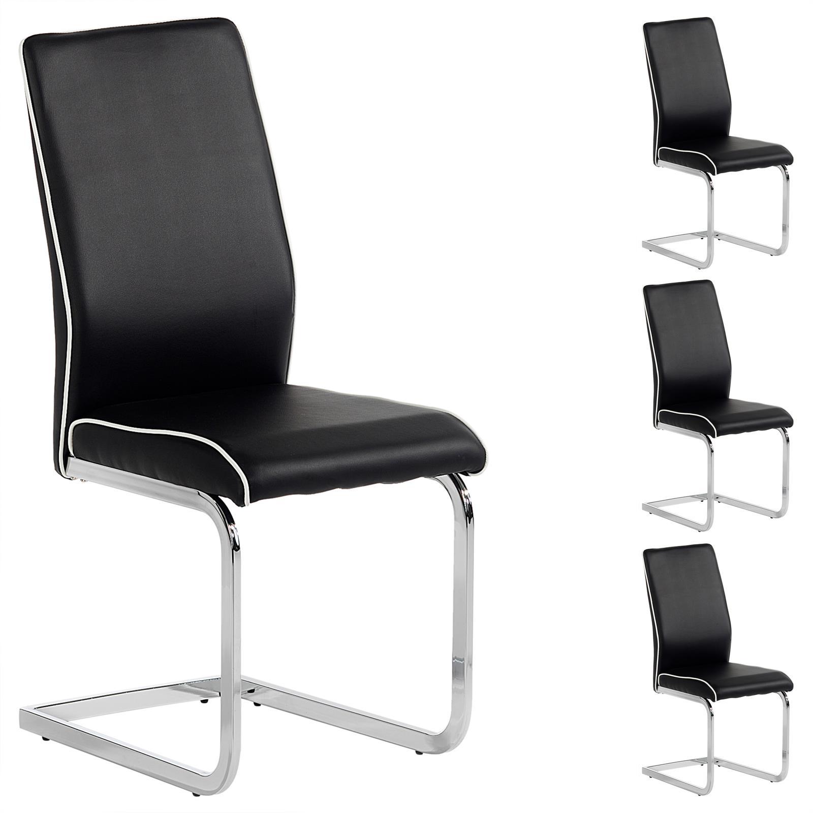 4er set schwingstuhl freischwinger esszimmerstuhl in 3. Black Bedroom Furniture Sets. Home Design Ideas