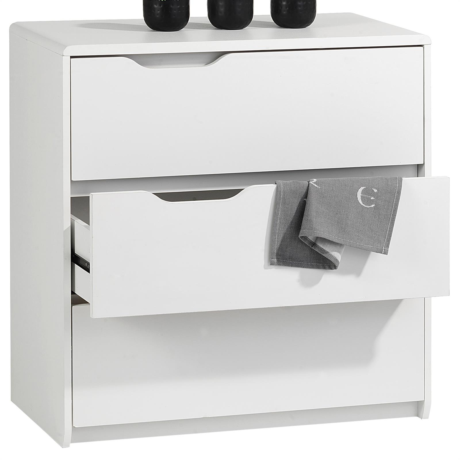 kommode schuhschrank schubladen sideboard anrichte design m bel in weiss eur 79 95 picclick de. Black Bedroom Furniture Sets. Home Design Ideas