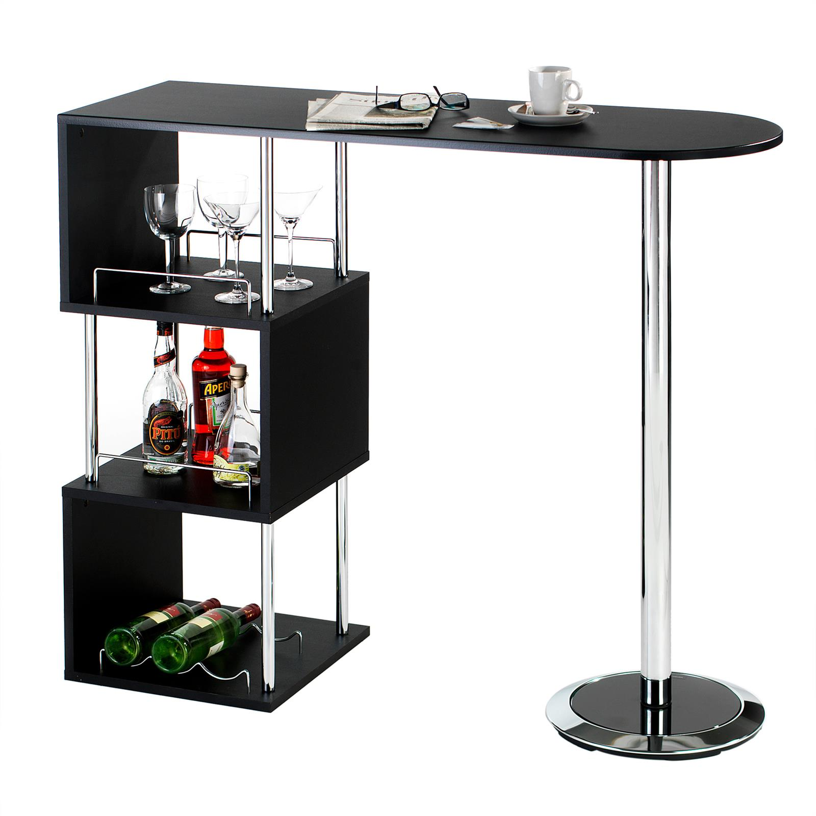 bartisch stehtisch bartresen bistrotisch tresentisch in schwarz weiss sonoma ebay. Black Bedroom Furniture Sets. Home Design Ideas