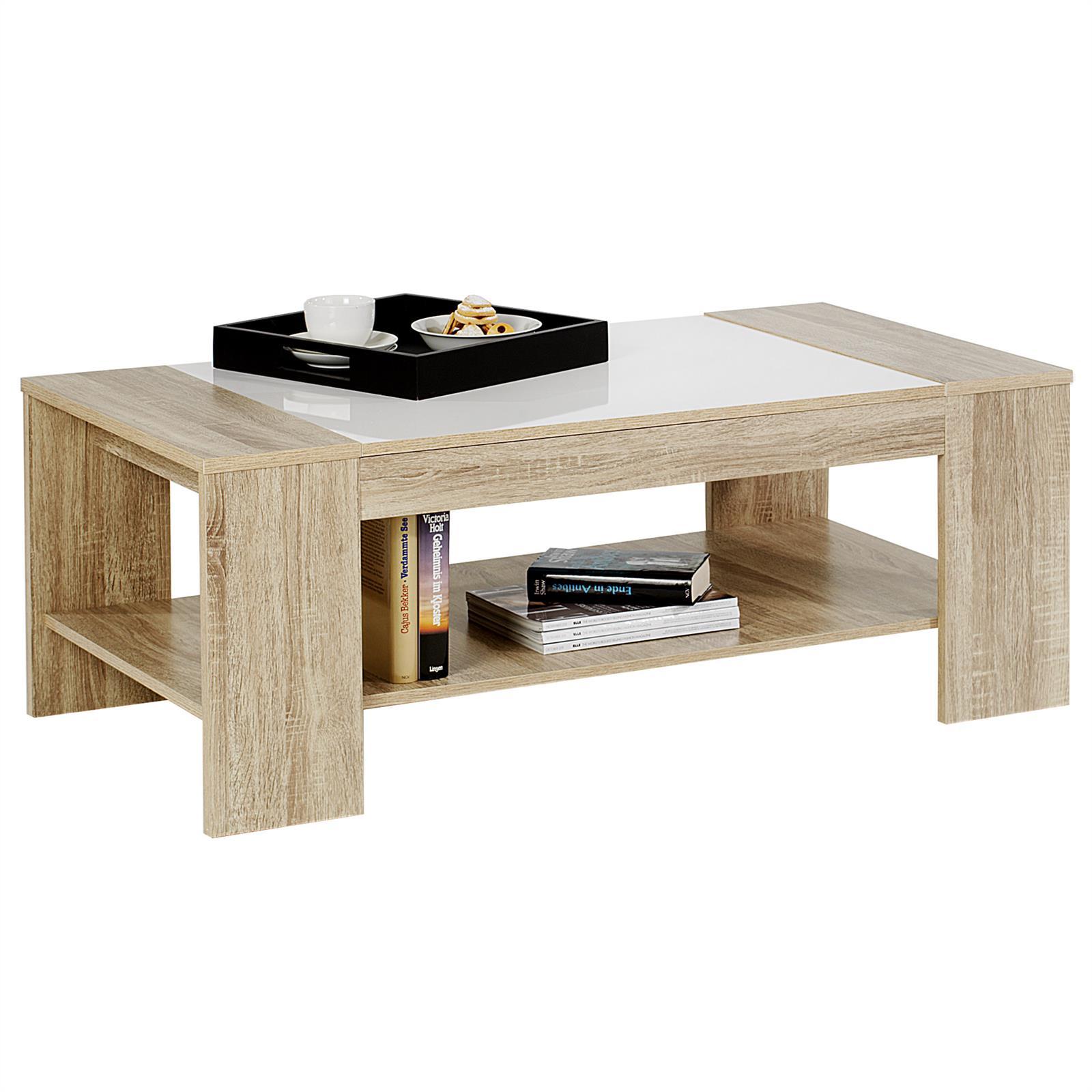 couchtisch beistelltisch wohnzimmertisch farbauswahl mit ablage ebay. Black Bedroom Furniture Sets. Home Design Ideas