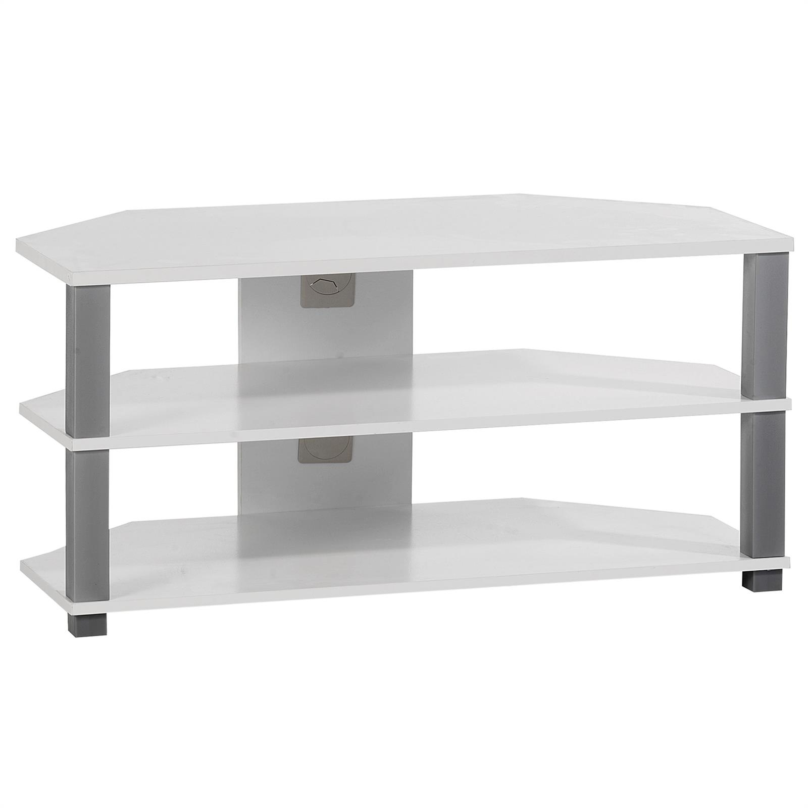 tv rack tisch schrank board unterschrank hifi media m bel design in weiss grau eur 29 95. Black Bedroom Furniture Sets. Home Design Ideas