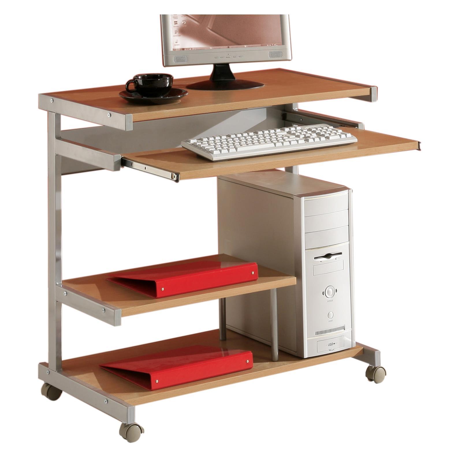 Computertisch pc tisch station schreib b ro arbeits in for Computertisch in buche