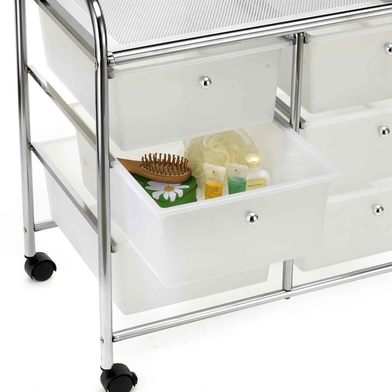 rollcontainer rollwagen friseur kosmetik badregal 6 schubladen transparent. Black Bedroom Furniture Sets. Home Design Ideas