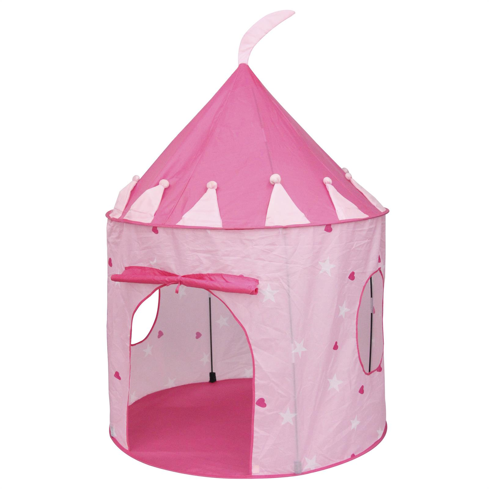 spielzelt rosa schloss prinzessin kinderzimmer spielhaus gartenzelt 100x135x100 ebay. Black Bedroom Furniture Sets. Home Design Ideas
