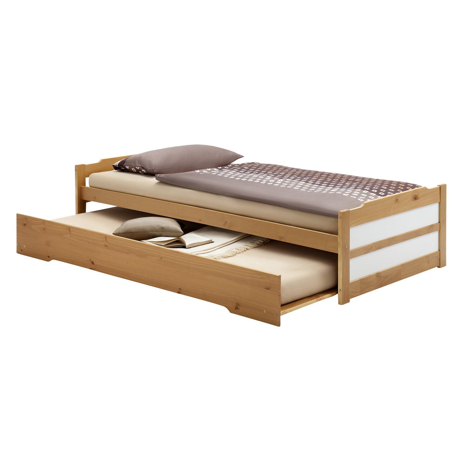 tandembett funktionsbett kojenbett auszugsbett schubladenbett kiefer farbauswahl ebay. Black Bedroom Furniture Sets. Home Design Ideas