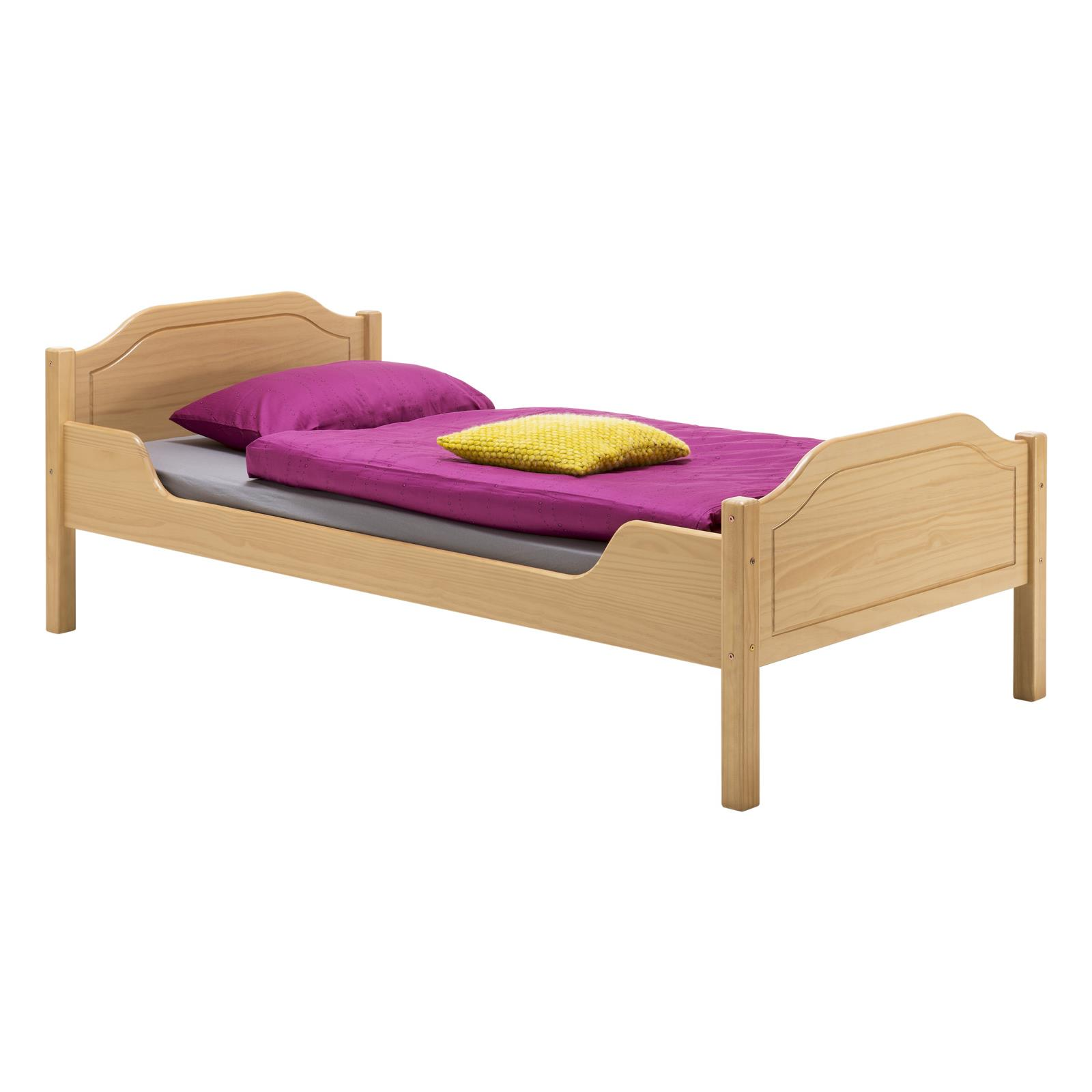 holzbett landhausbett einzelbett doppelbett kiefer massiv 5 gr en 4 farben ebay. Black Bedroom Furniture Sets. Home Design Ideas