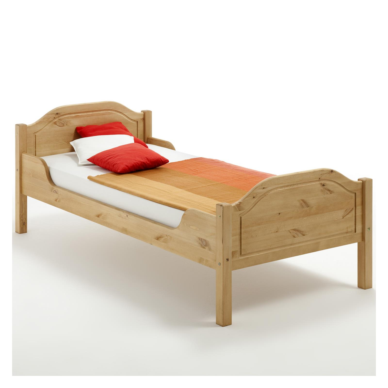 holzbett landhausbett einzelbett doppelbett kiefer massiv. Black Bedroom Furniture Sets. Home Design Ideas
