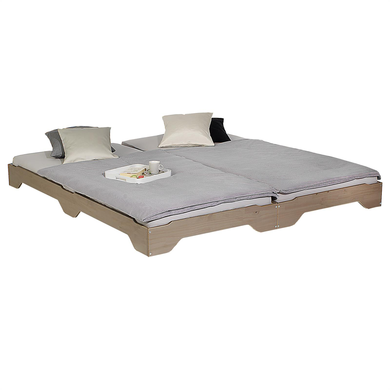 stapelbetten g stebetten doppelbetten einzelbetten kiefer massiv 90x200 farbwahl ebay. Black Bedroom Furniture Sets. Home Design Ideas