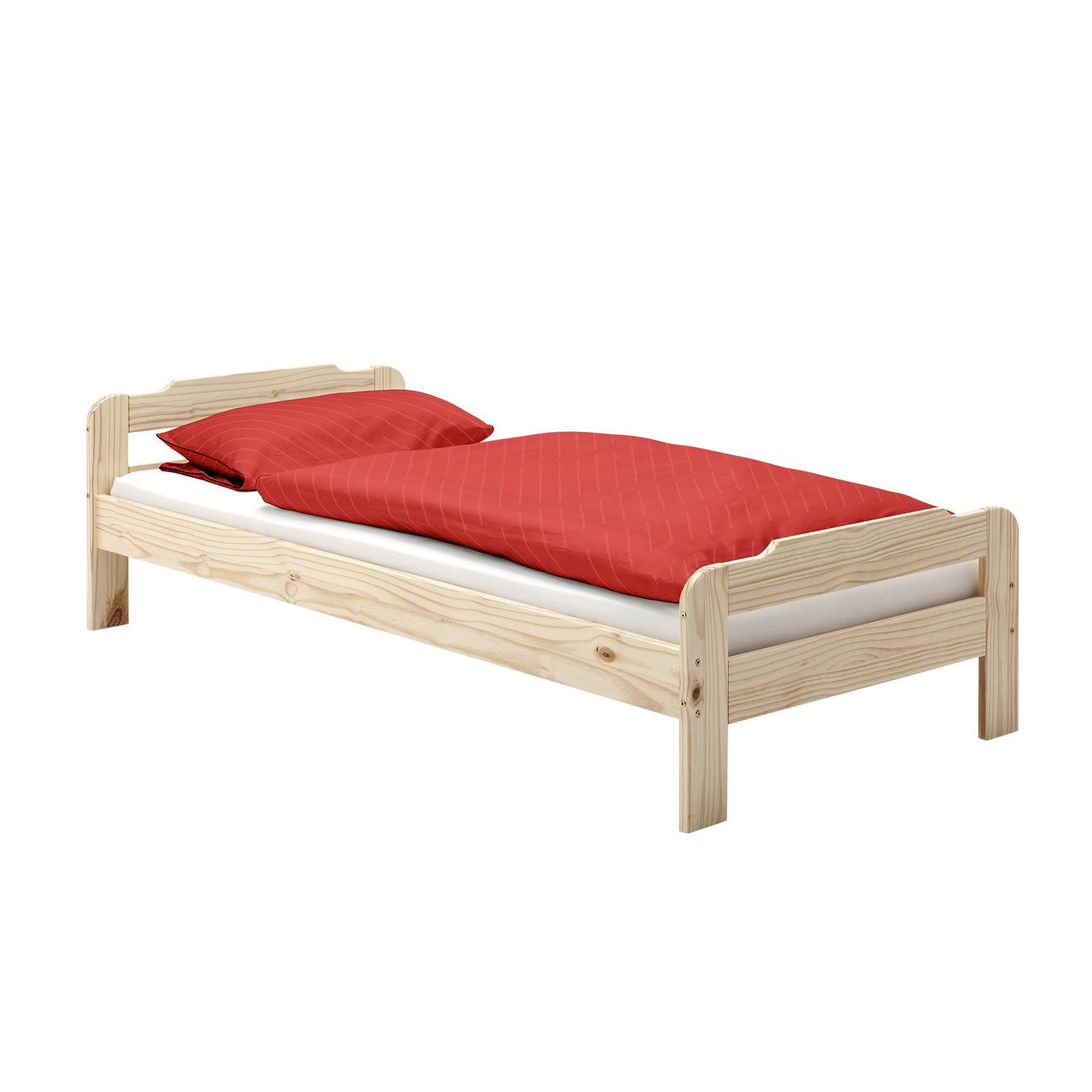 Doppelbett Größen : Bett einzelbett doppelbett kiefer massiv natur lackiert in