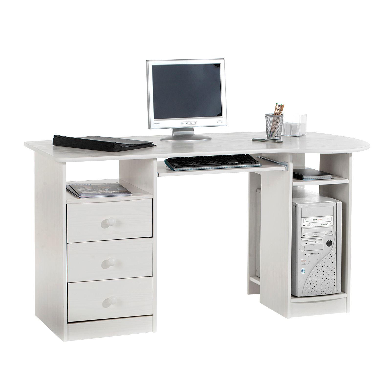 schreibtisch computertisch pc schreibtisch kiefer massiv. Black Bedroom Furniture Sets. Home Design Ideas