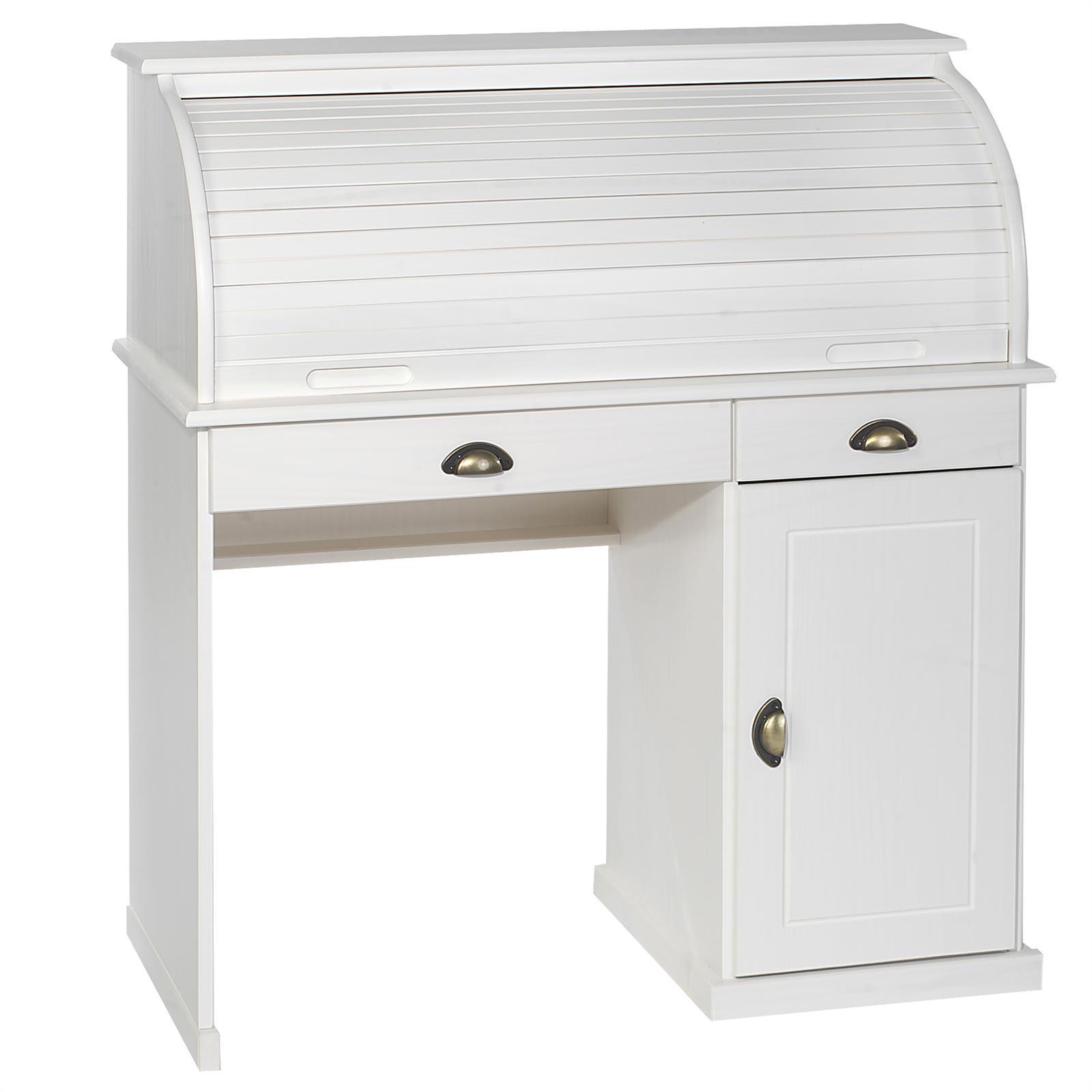 sekret r schreibtisch landhausstil schreibkommode kommode mit schublade rolladen ebay. Black Bedroom Furniture Sets. Home Design Ideas