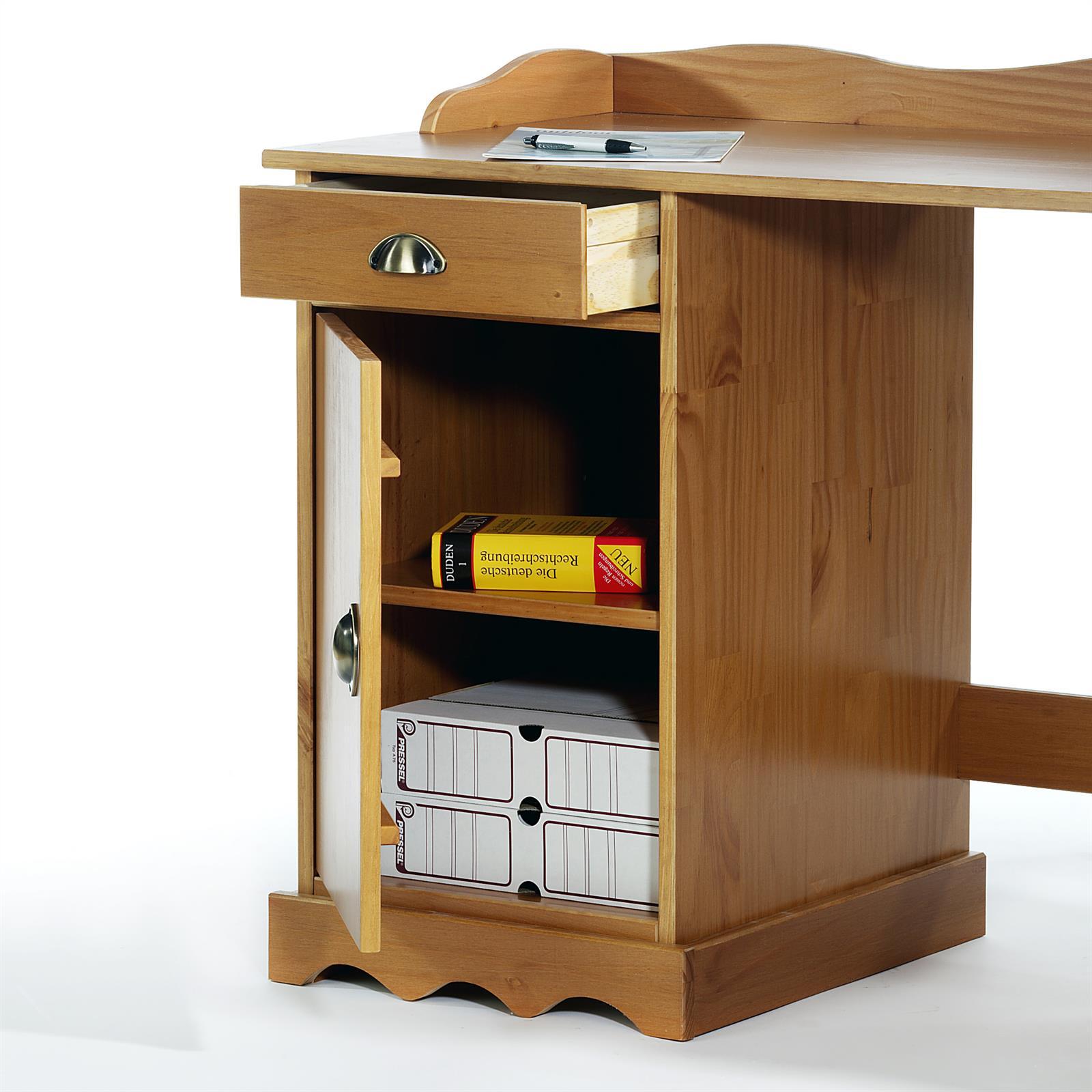 schreibtisch mit aufsatz computertisch arbeitstisch kiefer massiv landhausstil ebay. Black Bedroom Furniture Sets. Home Design Ideas