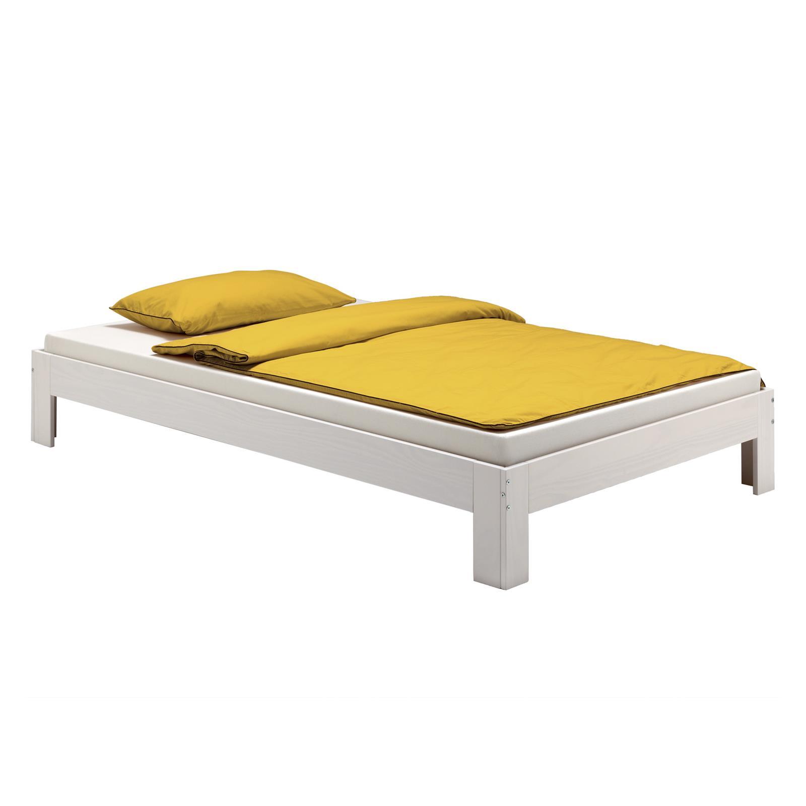 futonbett einzelbett doppelbett holzbett bettgestell kiefer massiv versch farben ebay. Black Bedroom Furniture Sets. Home Design Ideas