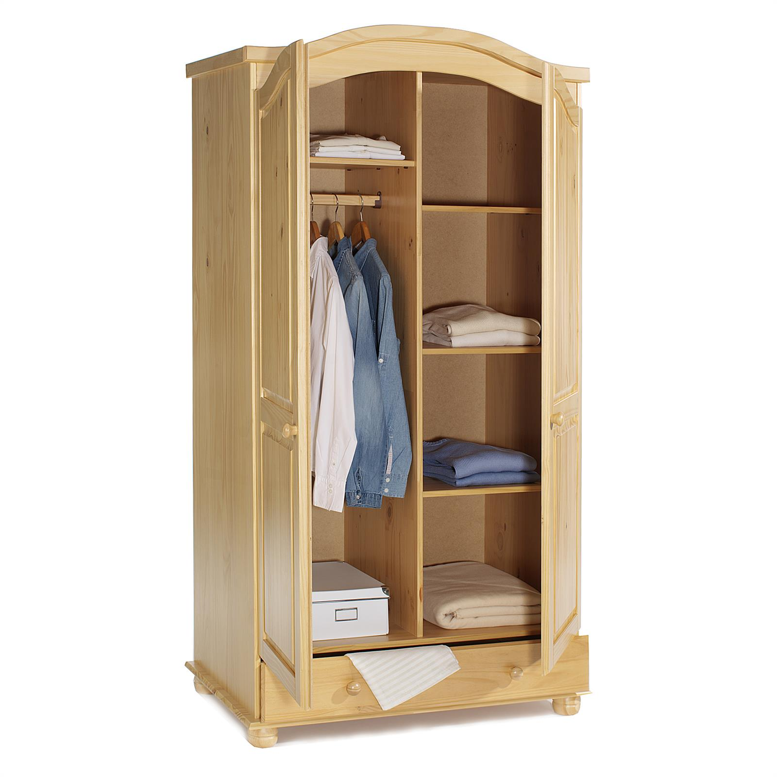garderobenschrank dielen kleider landhausstil 2t rig 2. Black Bedroom Furniture Sets. Home Design Ideas