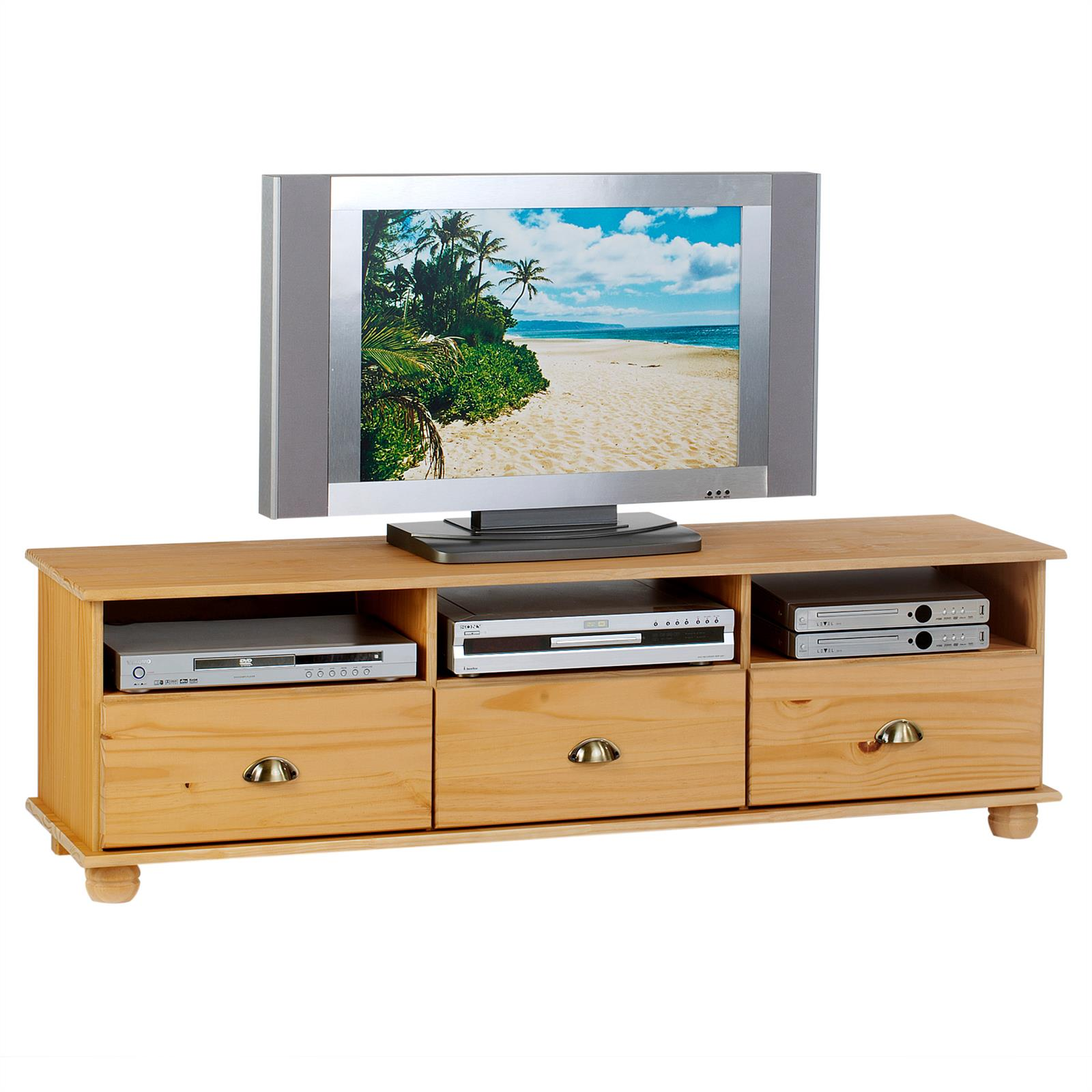 lowboard tv m bel hifi m bel fernsehkommode fernsehschrank massiv ebay. Black Bedroom Furniture Sets. Home Design Ideas