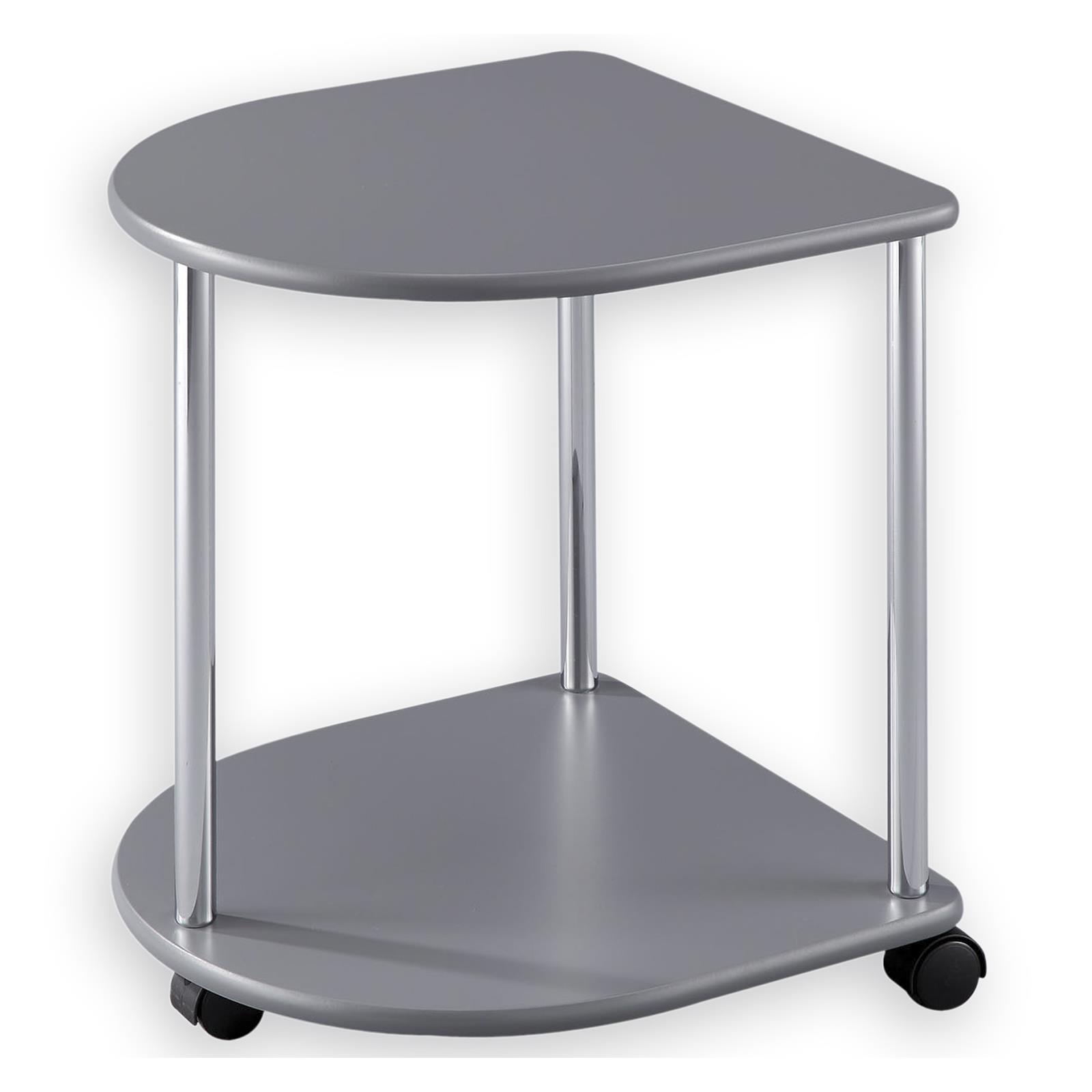 Couchtisch beistelltisch wohnzimmertisch tisch rund auf for Beistelltisch rund mit rollen