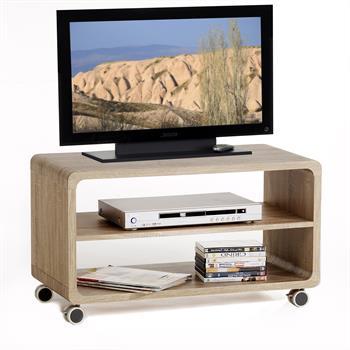 tv rack miami in sonoma eiche mobilia24. Black Bedroom Furniture Sets. Home Design Ideas