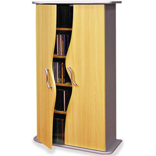 cd dvd blu ray regal schrank kommode anrichte m bel in buche mit t ren ebay. Black Bedroom Furniture Sets. Home Design Ideas