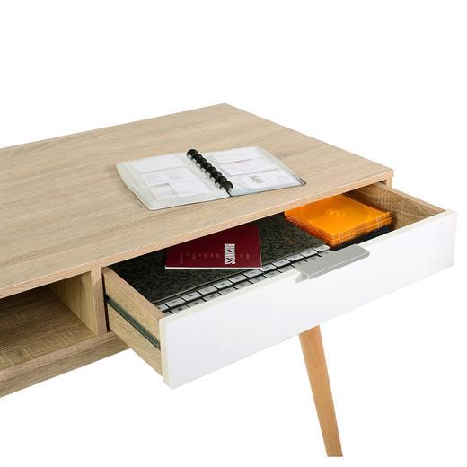 Schreibtisch 113x55 computertisch konsolen tisch sonoma for Schreibtisch nordisch