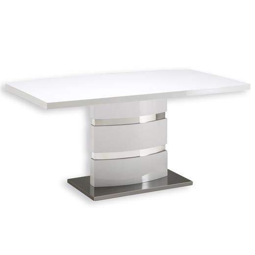 esstisch tisch esszimmertisch hochglanz weiss ebay. Black Bedroom Furniture Sets. Home Design Ideas