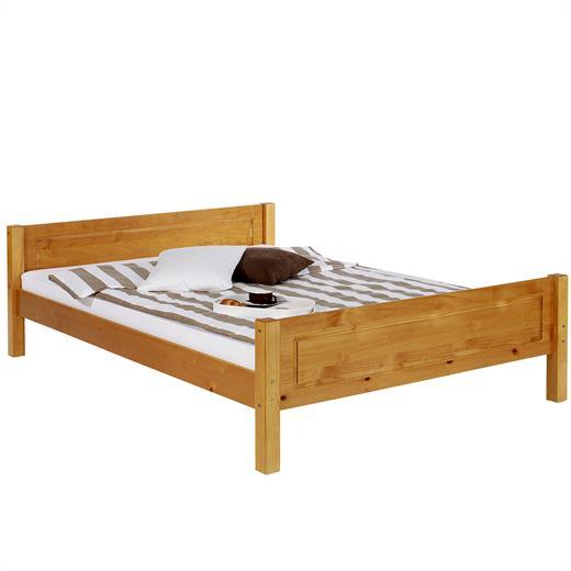 doppelbett bettgestell bett kiefer honigfarben 180x200 cm. Black Bedroom Furniture Sets. Home Design Ideas