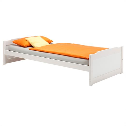 einzelbett kinderbett holzbett bett 90x200 cm kiefer. Black Bedroom Furniture Sets. Home Design Ideas