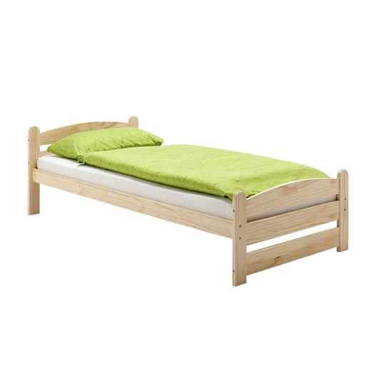 einzelbett bettgestell kinderbett jugendbett 100 x 200 cm kiefer natur lackiert ebay. Black Bedroom Furniture Sets. Home Design Ideas