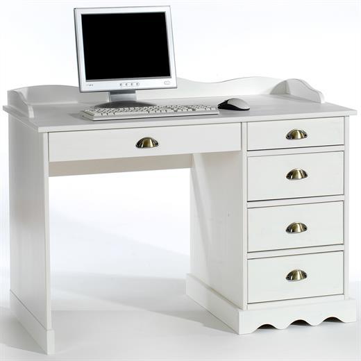 schreibtisch mit aufsatz b rotisch wei kiefer massivholz. Black Bedroom Furniture Sets. Home Design Ideas