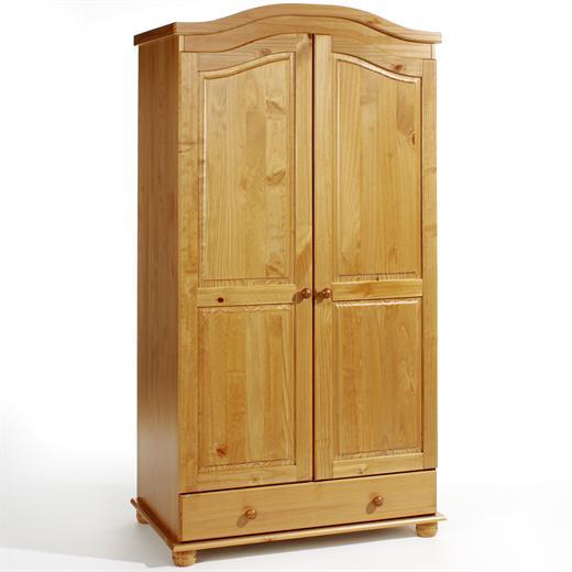 garderobenschrank dielen kleider landhausstil 2t rig 2 t ren kiefer honigfarben ebay. Black Bedroom Furniture Sets. Home Design Ideas