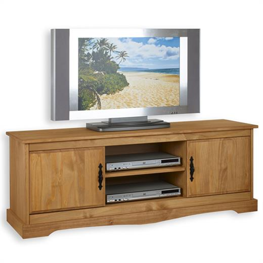 lowboard medienm bel tv m bel tv rack phono m bel kiefer massiv ebay. Black Bedroom Furniture Sets. Home Design Ideas