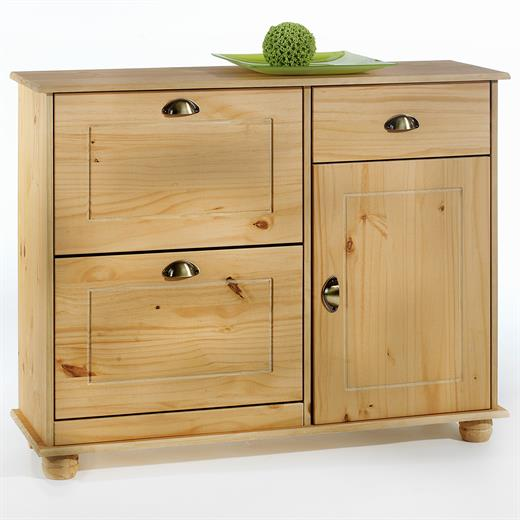 schuhkipper schuhschrank flurschrank dielenschrank kiefer gebeizt 2 klappe 1 t r ebay. Black Bedroom Furniture Sets. Home Design Ideas