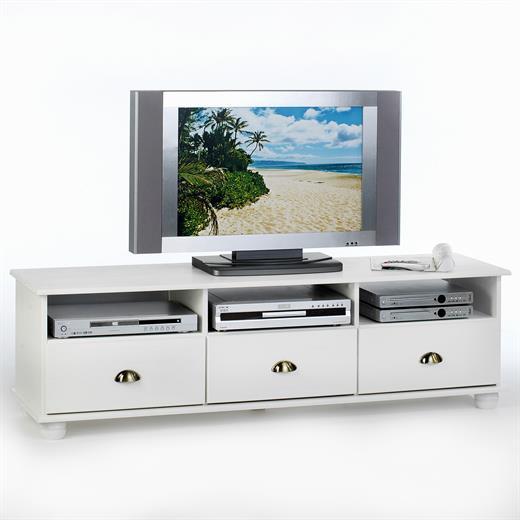 lowboard medienm bel hifi m bel tv schrank fernsehschrank fernsehkommode wei ebay. Black Bedroom Furniture Sets. Home Design Ideas