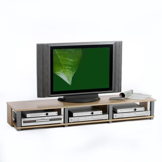 tv m bel lowboard fernsehtisch tv tisch mit 3 f cher. Black Bedroom Furniture Sets. Home Design Ideas