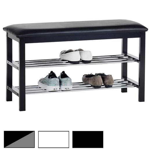 sitzbank schuhbank regal garderobe flur ablage m bel mit polster ebay. Black Bedroom Furniture Sets. Home Design Ideas
