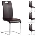 Schwingstuhl SABA, Set mit 4 Stühlen chrom