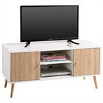 TV Lowboard MURICA in weiß/Sonoma Eiche