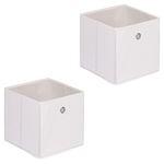 Stoffbox ELA faltbar 2er Pack weiß