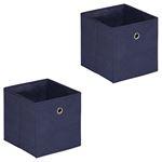 Stoffbox ELA faltbar 2er Pack dunkelblau