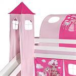 Turm PRINZESSIN zu Bett mit Rutsche, pink/rosa