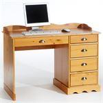 Schreibtisch COLETTE m.Aufsatz honigfarben