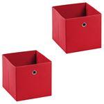Stoffbox ELA faltbar 2er Pack rot